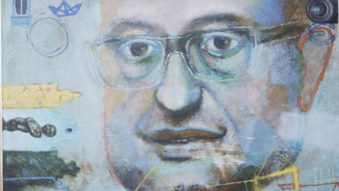 портрет на Емил Стоянов на 60 години - художник: Атанас Хранов